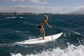 Training and practice routines for downwinder paddling