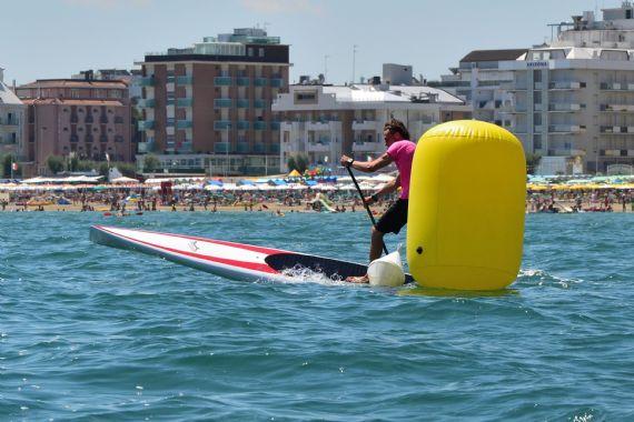 Paoloa marconi racing the Jimmy Lewis Blade II SUP