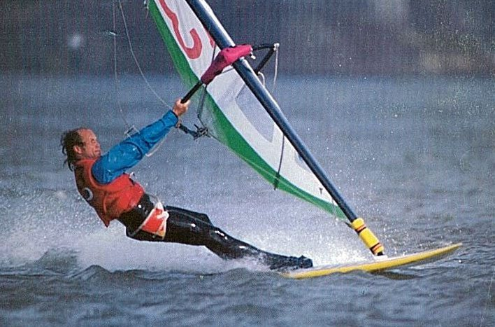 Fred Haywood breaking 30 knots
