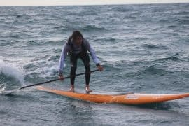 Paolo Marconi paddles around Elba Island for Jimmy Lewis Quickblade