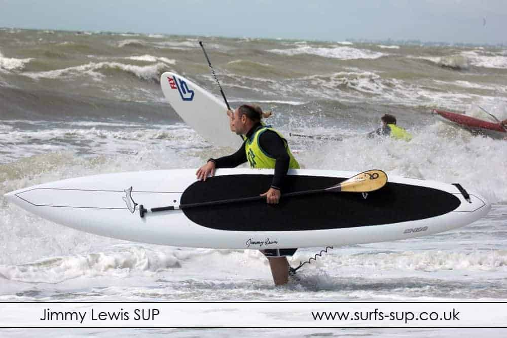 Jimmy Lewis M12 racing at Paddle ROund the Pier Brighton