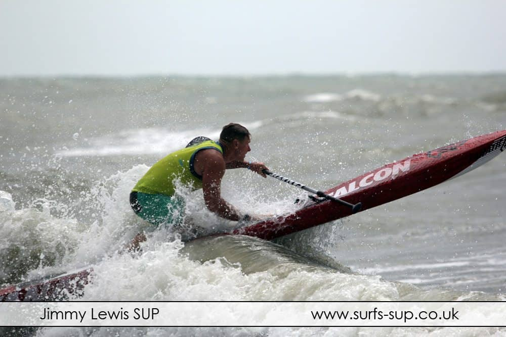 Mark Slater at Paddle Round the Pier SUP race 2014