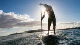 SUP in Devon with Jimmy Lewis Stand up paddleboarding