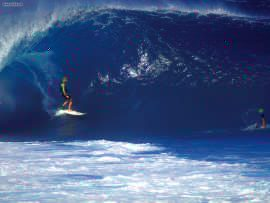 Surfing at Pipeline Hawaii