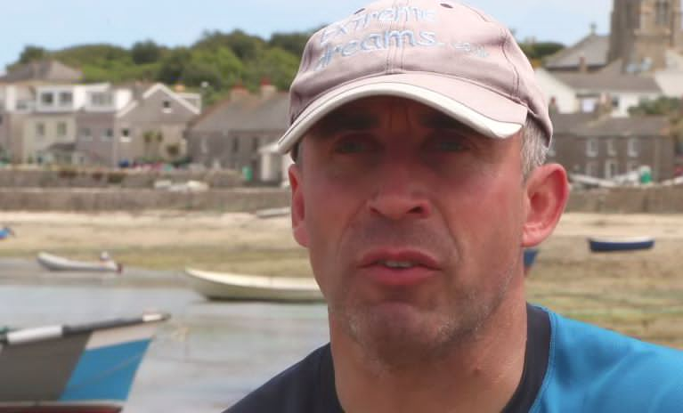 Dean Dunbar , the blind stand up paddle boarder