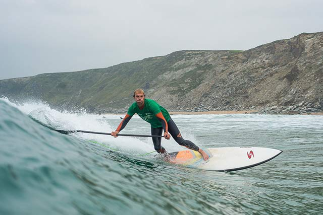 Ollie Shilston sup surfing at BSUPA Watergate