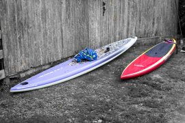 Jimmy Lewis Rail and SiC 17ft board at Hayling Island