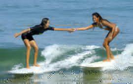 regular or goofy foot sup surfer