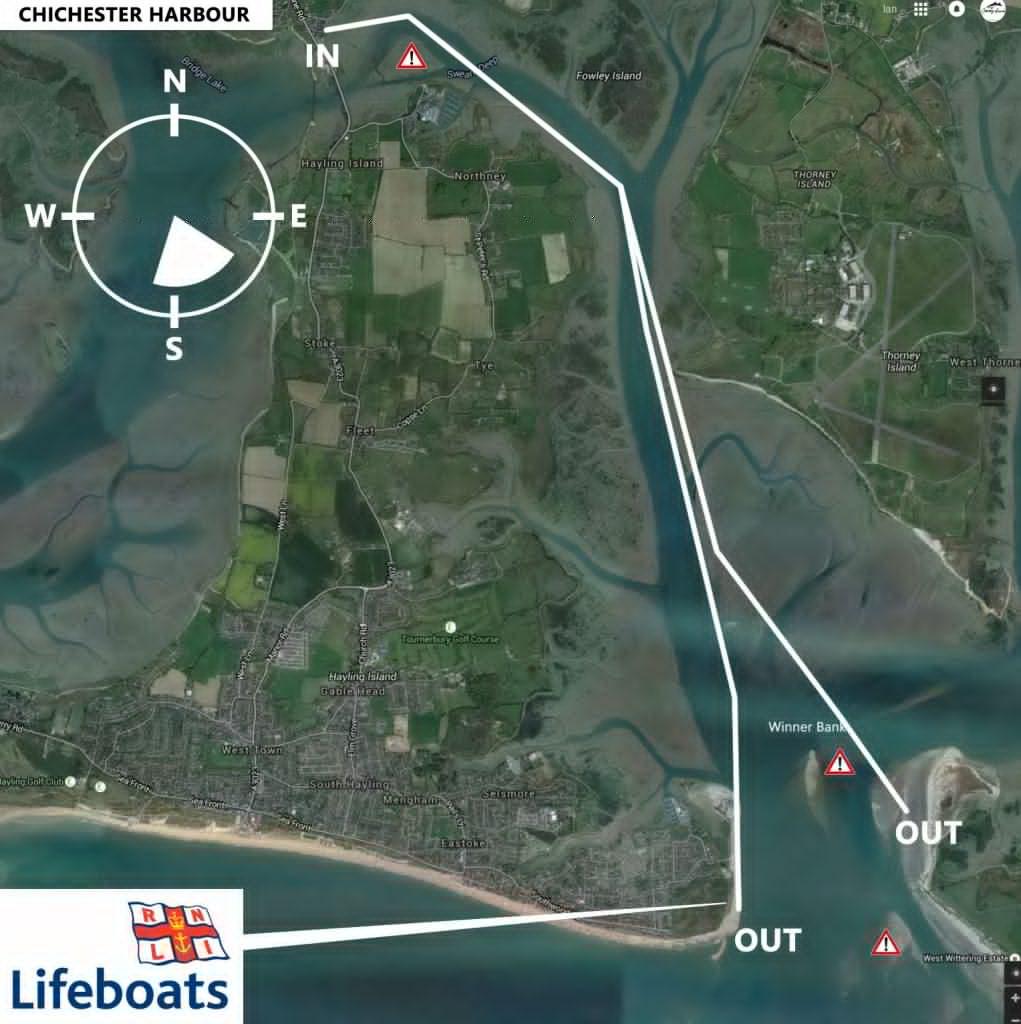 Hayling Island downwind sup run in northerlies