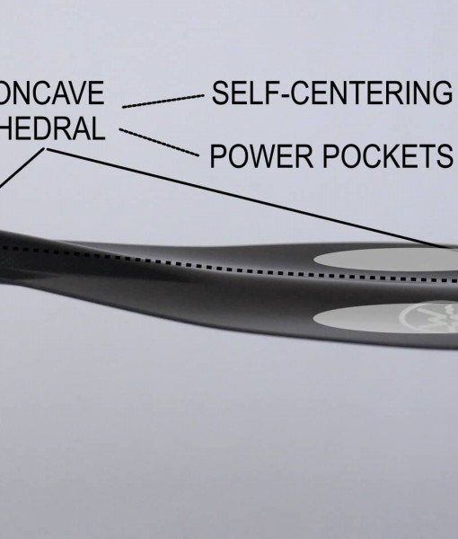 You can see the concept in more detail with the double concave on the Werner Rip Stick