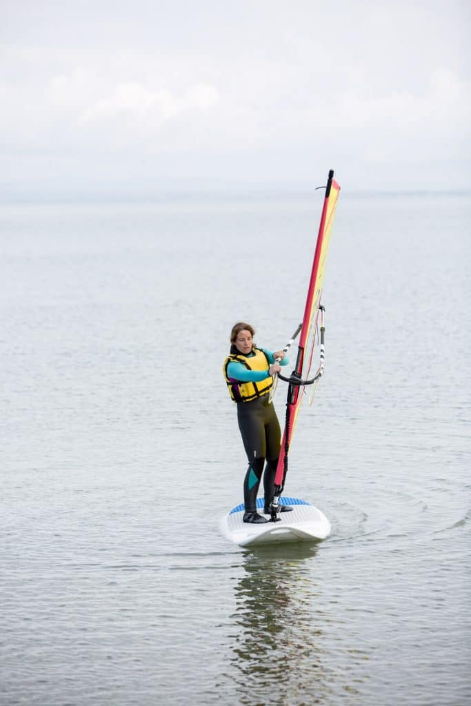 Windsurf lesson with Jamie Knox at Brandon Bay