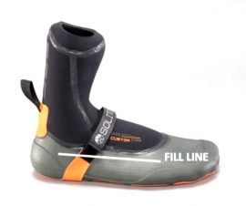 Fill line for solite wetsuit boots
