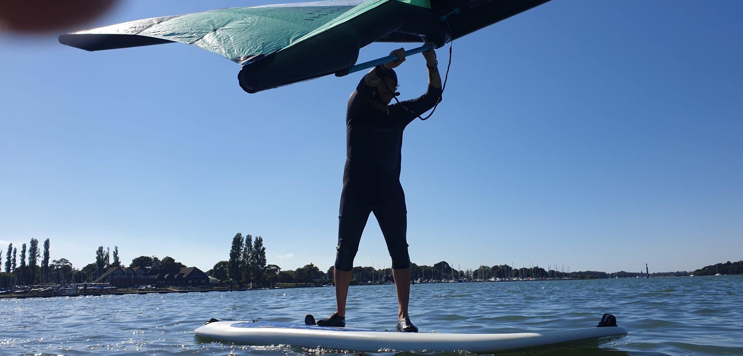 wing sup lessons in chichester harbour, west sussex